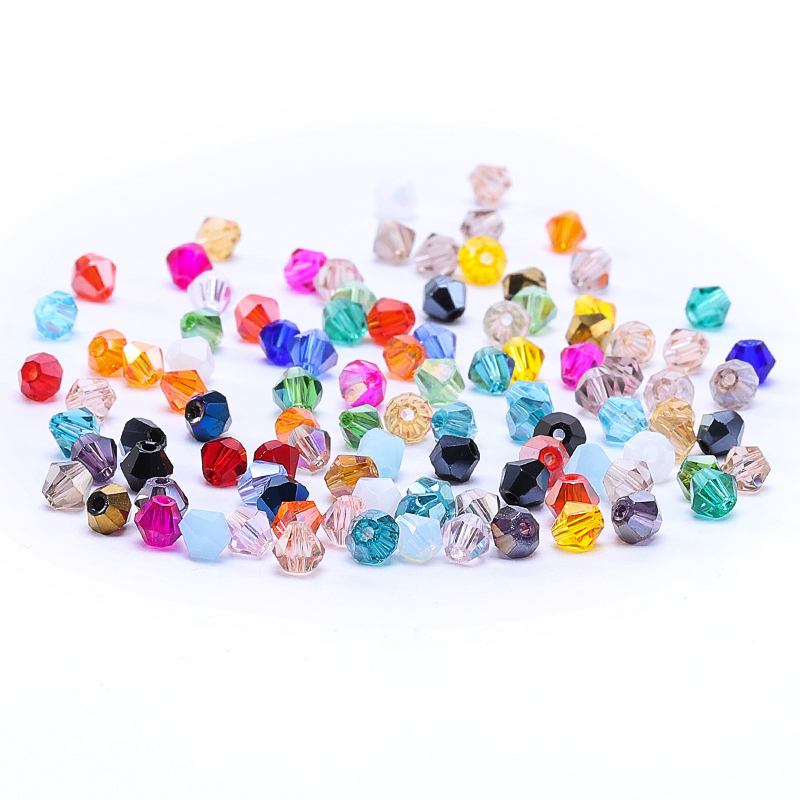 Pcs DIY Jewellery Czech Crystal Glass Faceted Bicone Beads 4mm Bright Pink 75