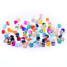 Beads for Jewelry Making 45 Colors 100pc 4mm Austria Crystal Bicone 5301 Loose Spacer Bead Artwork S-1