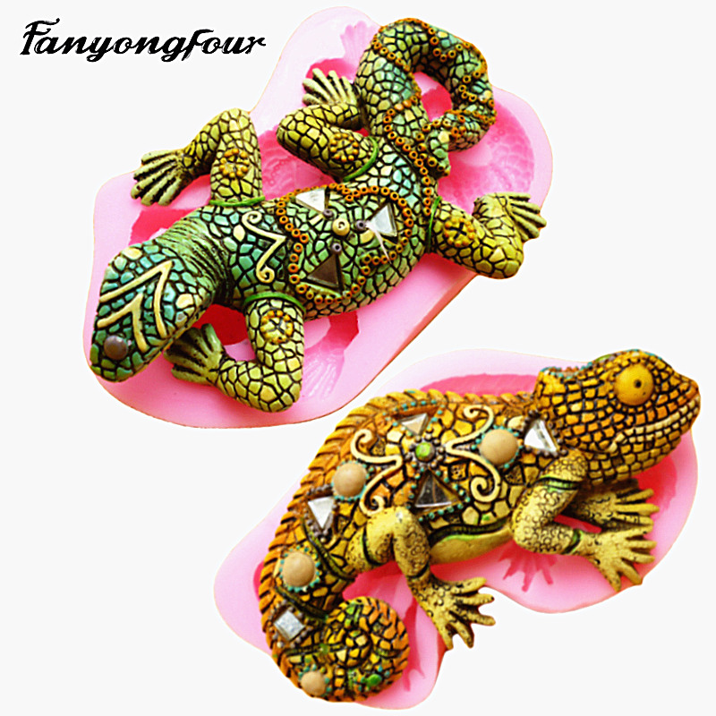 3D Lizard Cake Mold Silicone Mold Chocolate Gypsum Candle Soap Candy Mold Kitchen Bake Free Shipping|candy mold|silicone moldcake mold - AliExpress