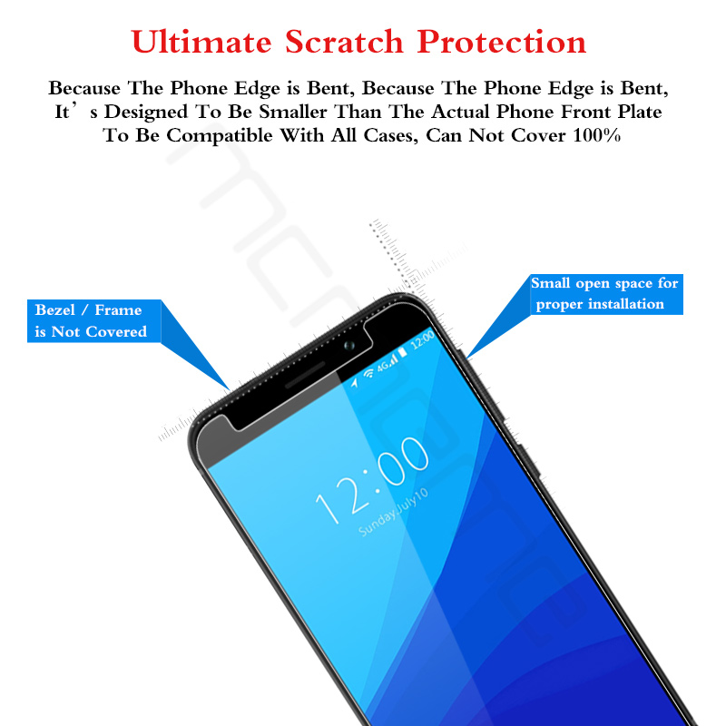 MCMEME For UMIDIGI G Tempered Glass 9H 2 5D Ultra thin Protective Film Explosion proof For UMIDIGI G Screen Protector Glass Film in Phone Screen Protectors from Cellphones Telecommunications