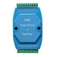 Детектор напряжения переменного тока для мониторинга 8 петель 140 ~ 240В переменного тока 50 Гц состояние и выход сухого контакта AVD800