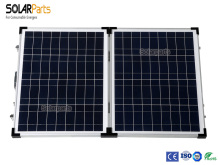 100W Tempered glass laminated polycrystalline solar panel – foldable box.