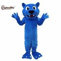 Косплей Diy синий ростовой костюм Пантеры животное Талисман Взрослый Хэллоуин карнавал день рождения Косплей Костюм