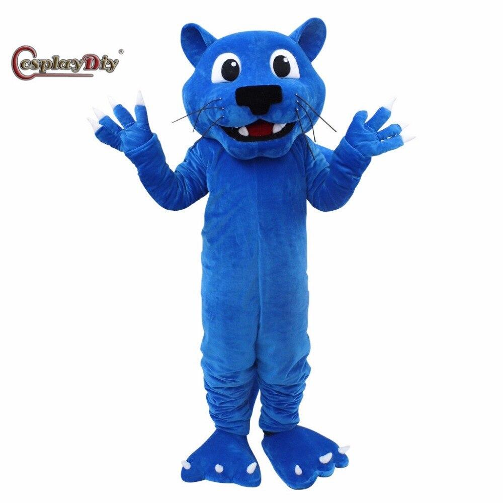 CosplayDiy синий пантера талисман костюм пантера животное Талисман Взрослый Хэллоуин карнавал день рождения Косплей Костюм