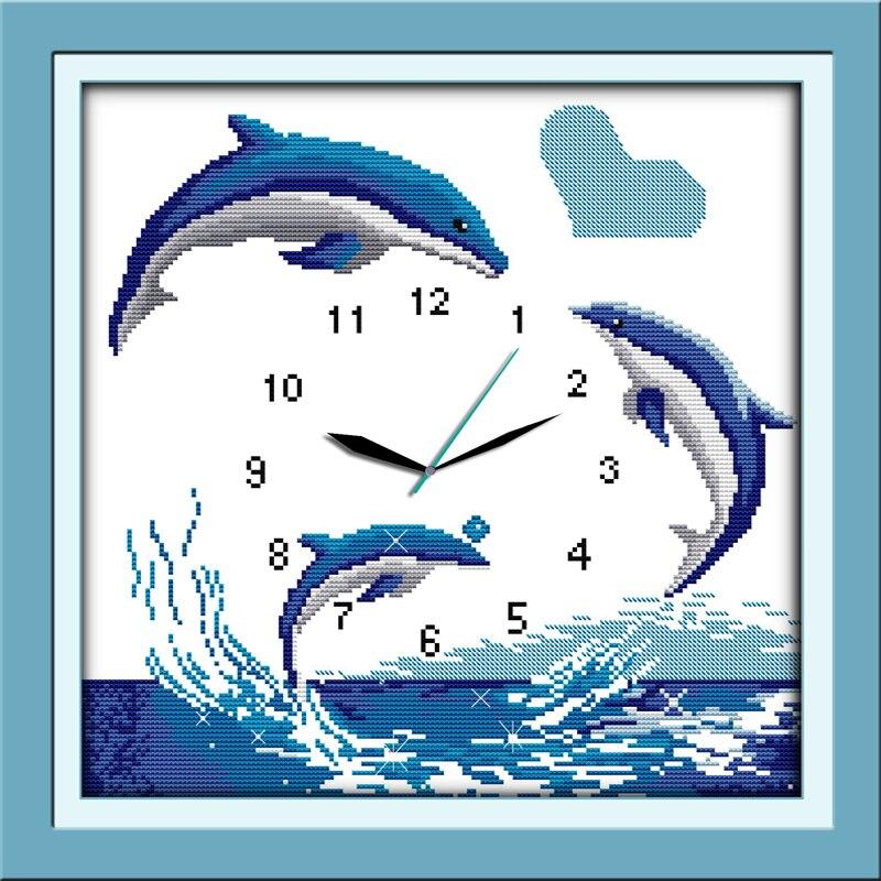 ⑥Joy Sunday relojes estilo Blue dolphins Navidad Hermosa cruz ...