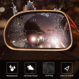Image 4 - 2x samochodów boczne lusterko wsteczne wodoodporna Anti Fog deszcz dowód Film boczna szyba sprawiają, że ludzies wizja jaśniejsze w deszczowe dni