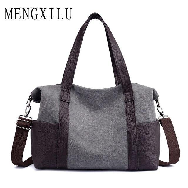 6df29aa48f MENGXILU Big Canvas Bags Handbag Women Famous Brand Designer High Quality  Casual Totes Bag Ladies Shoulder bolsa feminina 2018