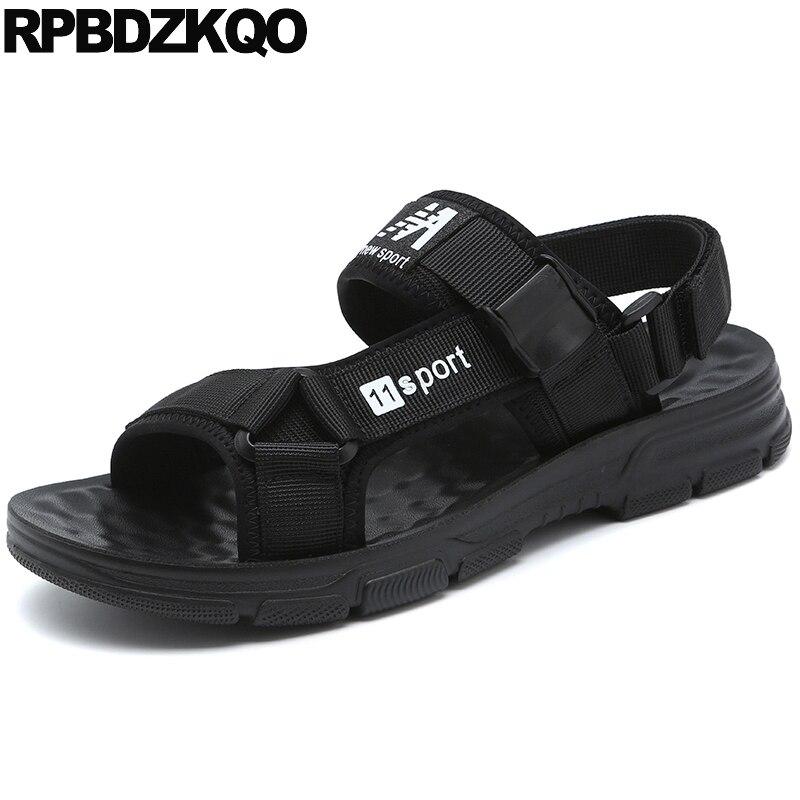 Romain célèbre marque plat noir sport hommes gladiateur sandales d'été baskets décontracté étanche designer maille chaussures en plein air