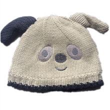 Cartoon Anime Peluche di Cotone di lavoro a maglia sveglio Grigio bianco  rosso Cane orso Caldo Dei Bambini del cappello Del Bamb. cf020d73a843