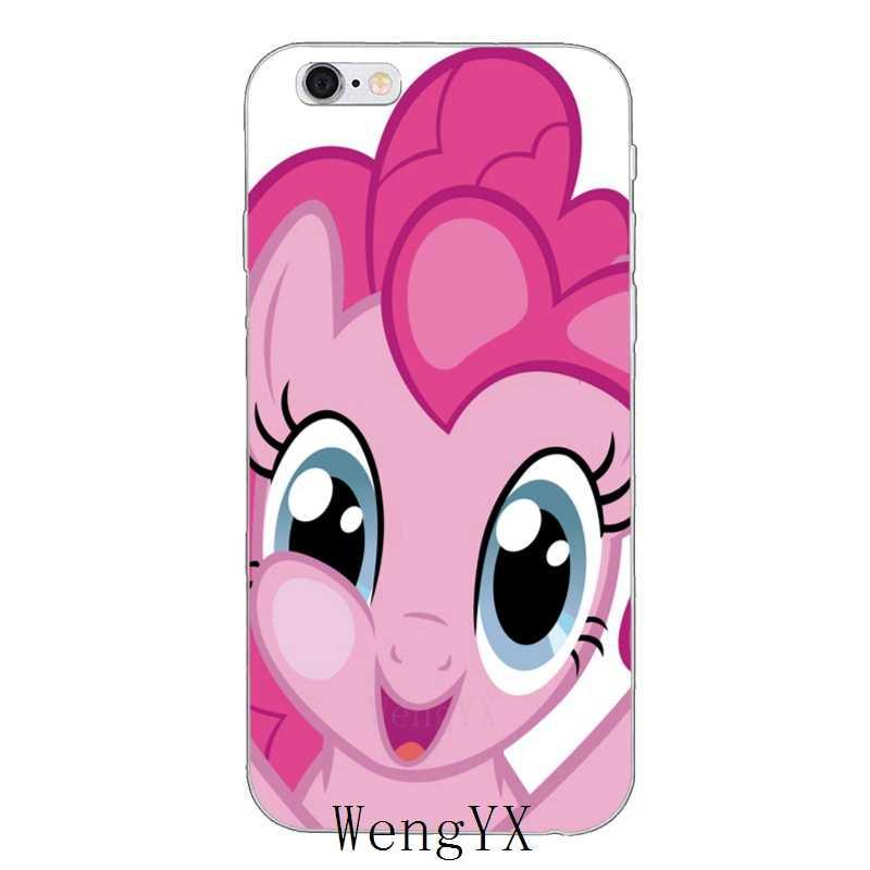 Мультфильм Красный my little pony Пинки Пай тонкий мягкий чехол для телефона для Xiaomi mi 6 A1 5 5S 5x mi х Макс 2 красный mi Примечание 3 4 5 5A 4X pro plus