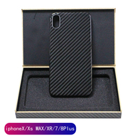 real pure carbon fiber fashion ultra thin handcraft mobile phone case for Iphone 7 8 plus X S R MAX hard business phone cover