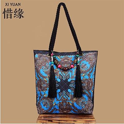 XIYUAN BRAND New Arrival Knitting Women tassel Handbag Fashion Weave Shoulder Bags Small Casual Cross Body Bag Retro Totes bags