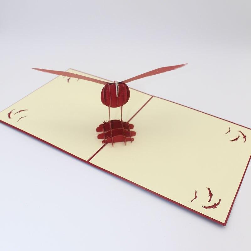 10 pieces/lot)Creative Handmade 3D Pop Up Paper Laser Cut Dapeng ...