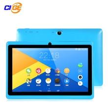 CIGE 7 pulgadas Android 4.4 KitKat Tablet pc 8 GB Bluetooth Bundle Teclado 7 pulgadas Q88 Allwinner A33 Quad Core tabletas