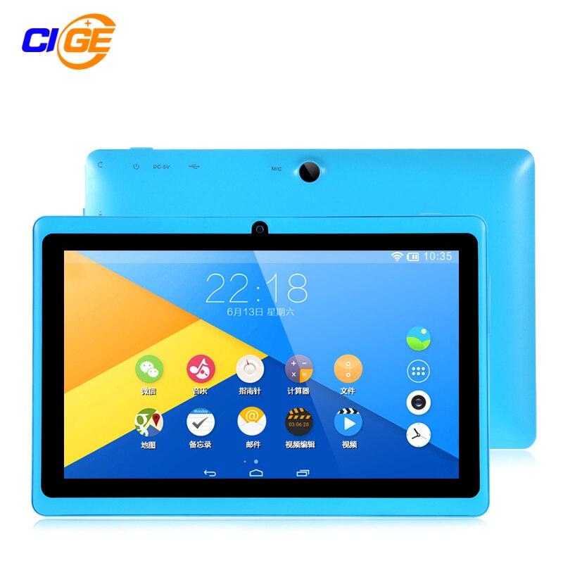 CIGE 7 inch Android 4.4 KitKat Tablet pc 8GB Bluetooth Bundle Keyboard 7 inch Q88 Allwinner A33 Quad Core tablets