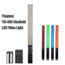 YONGNUO YN360 Ручной Светодиодный Свет 3200 К 5500 К RGB Красочные + БАТАРЕЯ КОСТЮМ