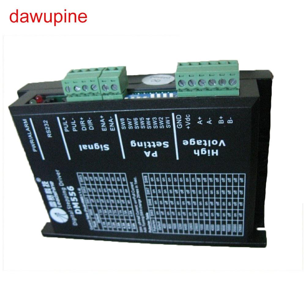Dawupine Schrittmotorsteuerung Leadshine DM556 2-phasen Digitale Schrittmotortreiber 18-48 VDC 2.1A zu 5.6A NEMA23 NEMA34