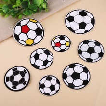 Bag Embroidery Football Cute Patches Cheap Iron-Stickers Clothing Diy-Accessory Applique