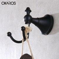 OKAROS Robe Hook Cloth Hook Towel Rack Hook Coat Hook Oil Rubbed Black/Bronze Wall Hanger Bathroom Product Bathroom Accessories