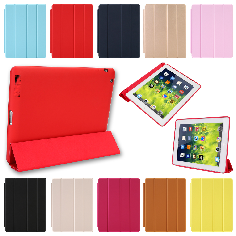 Case For iPad 2 3 4 Magnetic Leather Smart Cover for Apple iPad 4th Generation 3rd Generation 2 with Rubberized Back Case surehin nice smart leather case for apple ipad pro 12 9 cover case sleeve fit 1 2g 2015 2017 year thin magnetic transparent back