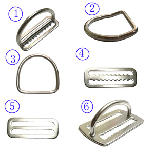 "2"" Stainless Steel Scuba Diving Weight Belt Slide Keeper D Ring Webbing Harness Belt Retainer Stopper Freediving BCD Accessoires(China)"