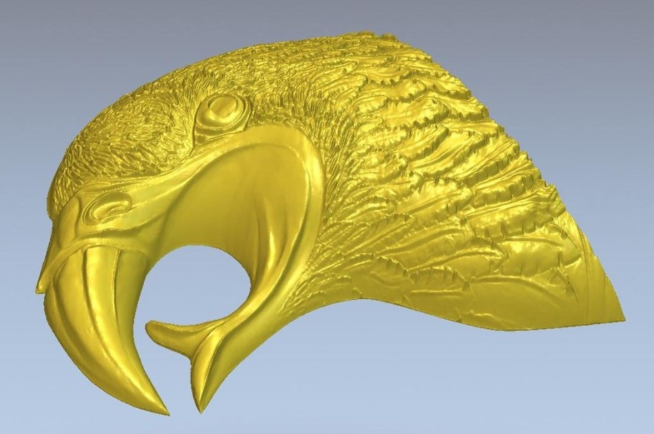 3d model relief  for cnc in STL file format  head of an eagle relief for cnc in stl file format 3d panno herd model