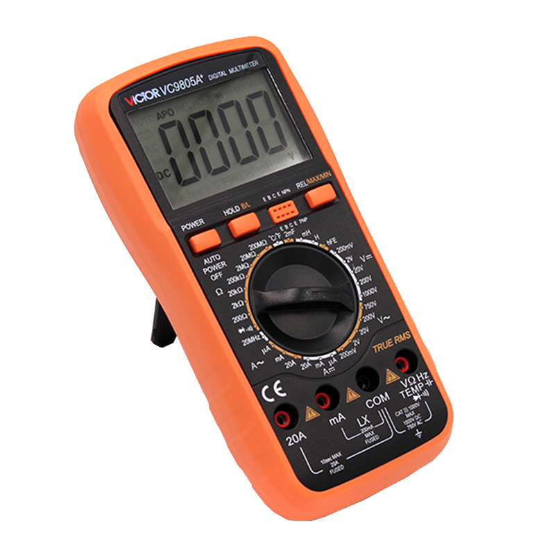 Victor VC9805A+ Digital Multimeter 2000 Counts Amp Resistance Capacitance Inductance Temperature tester victor dm6235p digital tachometer