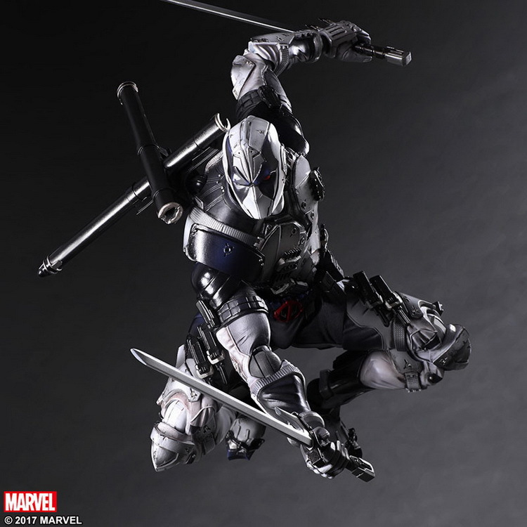 PLAY ARTS 27cm Marvel X-men Deadpool X-FORCE Grey Action Figure Model Toys x force omnibus volume 1