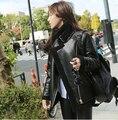 Женщины Turn Down Воротник Из Искусственного Барашек Куртки Карман На Молнии Спереди С Длинным Рукавом Широкий Нагрудные 2016 Осень Зимнее Пальто
