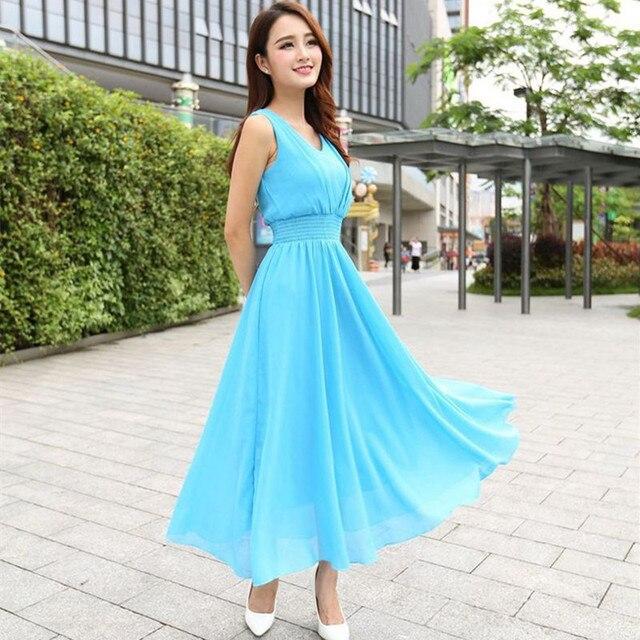 Fashion Sleeveless Long Maxi Dress