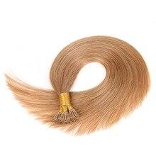 """Alishow remy волосы I Tip кератиновые человеческие волосы для наращивания 1""""-24"""" 1 г/локон шелковистые прямые волосы на капсулах fusion волосы 50 шт/упаковка"""