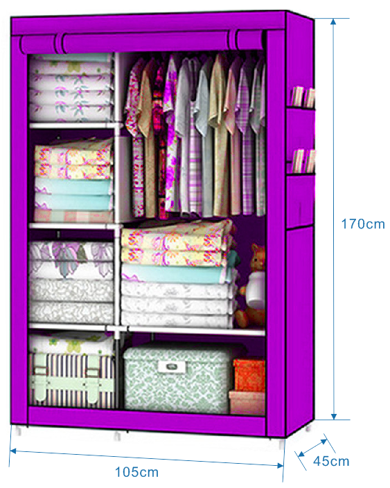 Image 2 - Bedroom Furniture For Home Storage Cabinet Door Wardrobe For Clothing Nonwoven Fabric Storage Clothes In The Closet In Moscow-in Wardrobes from Furniture