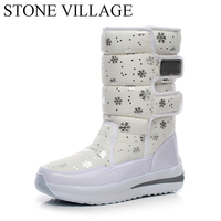 Winter New Korean Waterproof Boots In Tube Wedge Snow Boots Warm Thick Cotton Padded Shoes Women