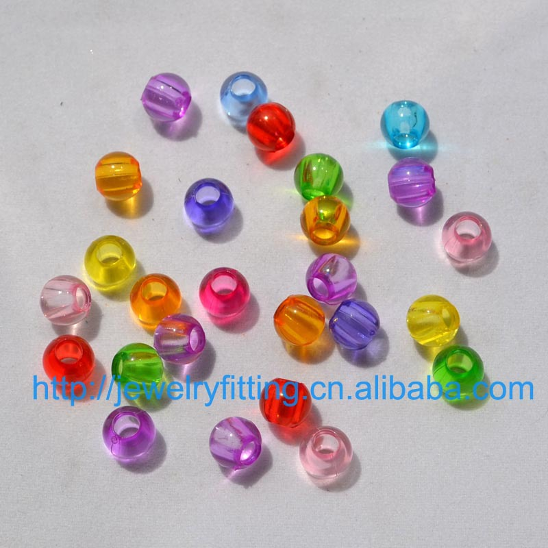 7433a75b79c2f DIY Jewelry Accessory Rubber Bands Findings 8MM Big Hole Acrylic Beads  Transparent Round Beads Mix Color Hair Rope Departments