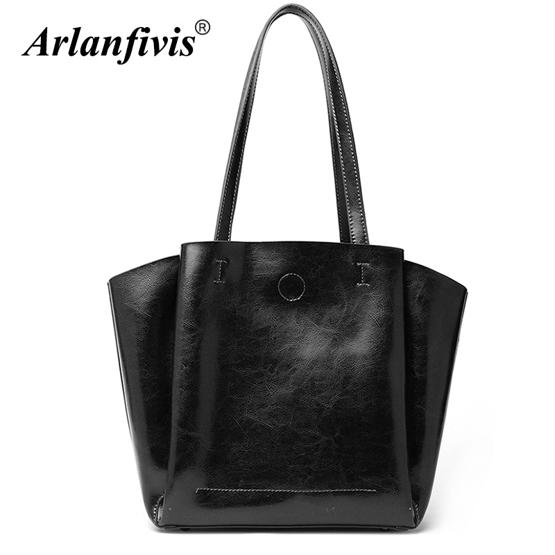 Arlanfivis Genuine Leather Luxury New 2018 Fashion Woman Hobo Bag bolsa feminina Large Capacity Composite Handbag Tote bag Soft arlanfivis genuine leather bags for women luxury large capacity handbag new 2018 fashion bolsa feminina ladies tote shopping bag