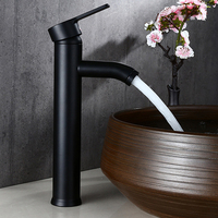 Faucet Stainless Steel Black Hot And Cold Faucet Washbasin Faucet Washbasin Faucet Classic Home Vintage Cool Kitchen Elegant