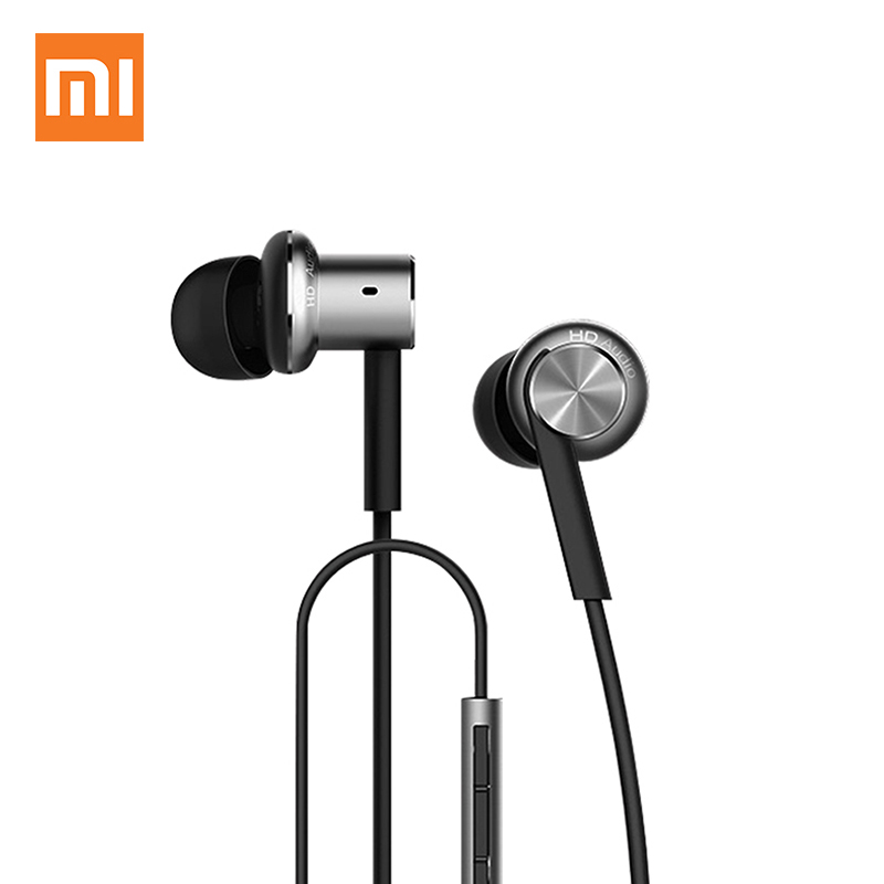 Original XIAOMI Hybrid Piston Dual Driver Earphone Stereo In-Ear Circle Iron Dynamic Balanced-Armature Mic For Xiao Mi Android original xiaomi xiomi mi hybrid earphone 1more design in ear multi unit piston headset hifi for smart mobile phone fon de ouvido