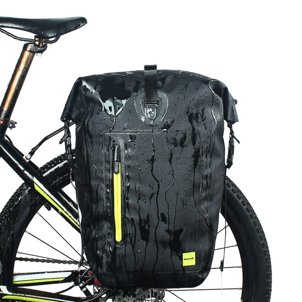 RHINOWALK 25L Waterproof Cycling Bike Bags MTB Bike Rear Rack Bag Full Multifunction Road Bicycle Pannier
