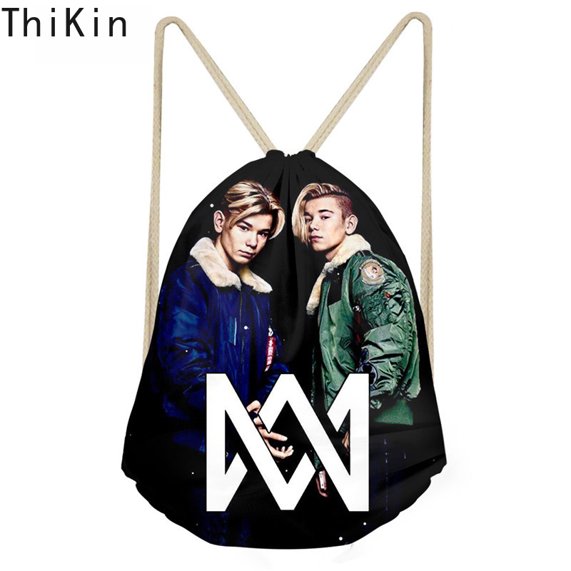 THIKIN Marcus and Martinus Drawstring Bag Children Backpacks for Teenager Girl Super Star Custom Logo Bag