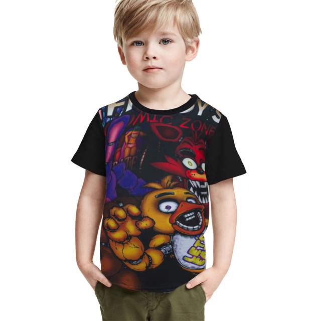 c2f6f11bcda59 US $4.97 40% OFF|Aliexpress.com : Buy Boys Cartoon Tops Tees Children T  Shirt Five Nights At Freddy's Girls Clothing Camiseta Kids Clothes Boys T  ...