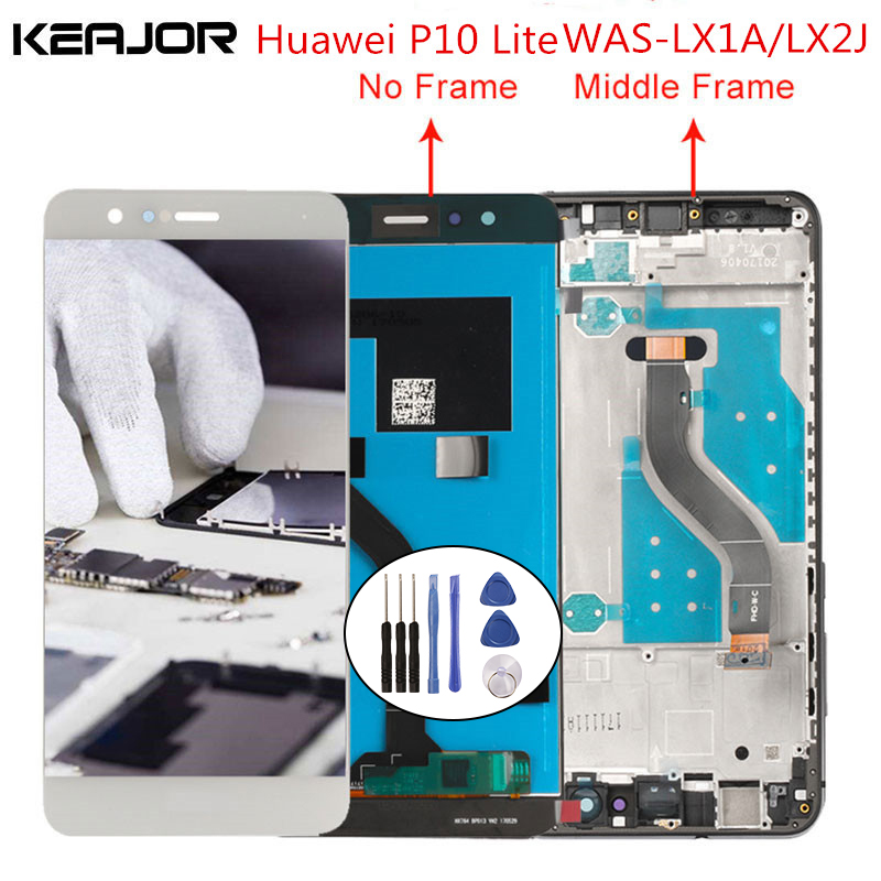 For Huawei P10 Lite LCD Screen Tested Lcd Display+Touch Screen with frame Replacement for Huawei P10 Lite WAS-LX2J WAS-LX2For Huawei P10 Lite LCD Screen Tested Lcd Display+Touch Screen with frame Replacement for Huawei P10 Lite WAS-LX2J WAS-LX2