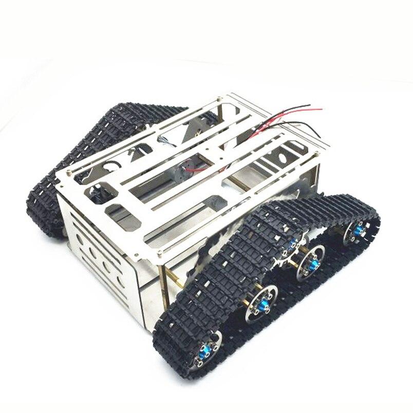 JMT bricolage RC Smart Robot véhicule voiture en alliage d'aluminium intelligent châssis de réservoir wall-e Caterpillar tracteur chenille pièces de rechange