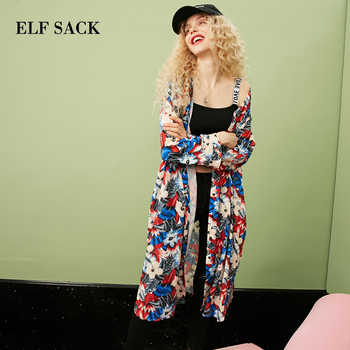 ELFSACK Women Floral Kimono Shirts Autumn Fashion Casual Blouse Vintage Loose Clothing - DISCOUNT ITEM  45% OFF All Category