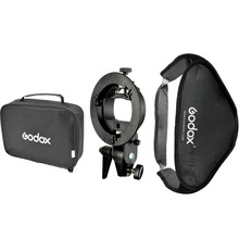 Godox Floading Ajustable 60×60 cm Flash Softbox Kit con S-type Soporte Bowen Mount Holder Para La Cámara Photo Studio