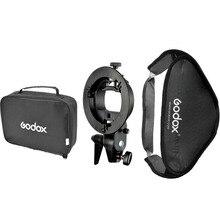 Floading Регулируемая Godox 60 х 60 см Вспышка Softbox Комплект с S-Type Кронштейн Боуэн Держатель Для Камеры Фотостудия