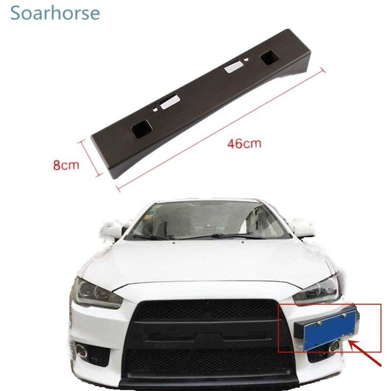 Soarhorse for Mitsubishi Lancer EX Modified EVO license plate frame registration plate bracket holder