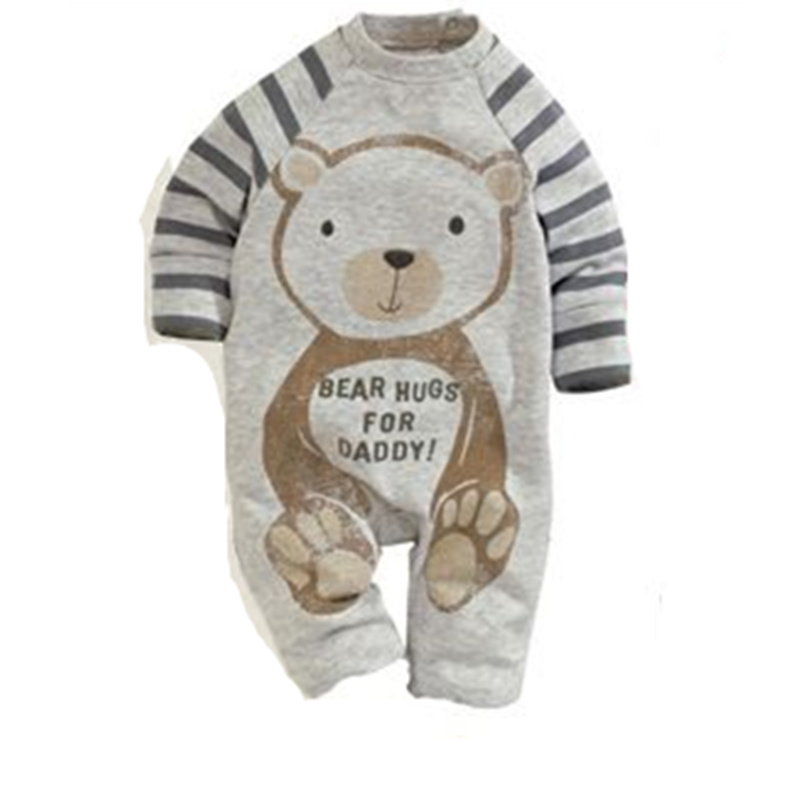 Baby Rompers 2016 Spring and autumn Baby Clothing Romper Cartoon Printing Cotton Long Sleeved Pants Neutral Newborn Baby Clothes he hello enjoy baby rompers long sleeve cotton baby infant autumn animal newborn baby clothes romper hat pants 3pcs clothing set