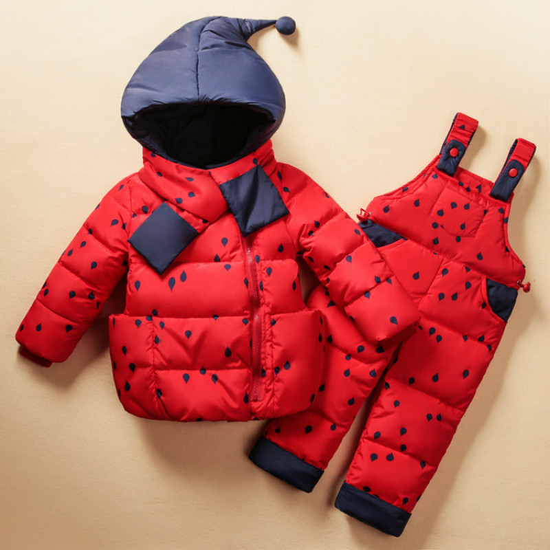 Winter Kids Clothes Warm Baby Babys Girls Down Coat Hooded  Children Clothing Sets Toddler Jacket   SetWinter Kids Clothes Warm Baby Babys Girls Down Coat Hooded  Children Clothing Sets Toddler Jacket   Set