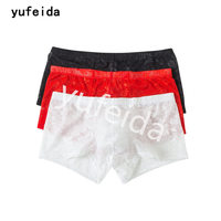YUFEIDA 3pcs Lot Classic Men S Ice Silk Boxer Underwear Cockcon Comfort Multicolor Sexy Underpants Homme