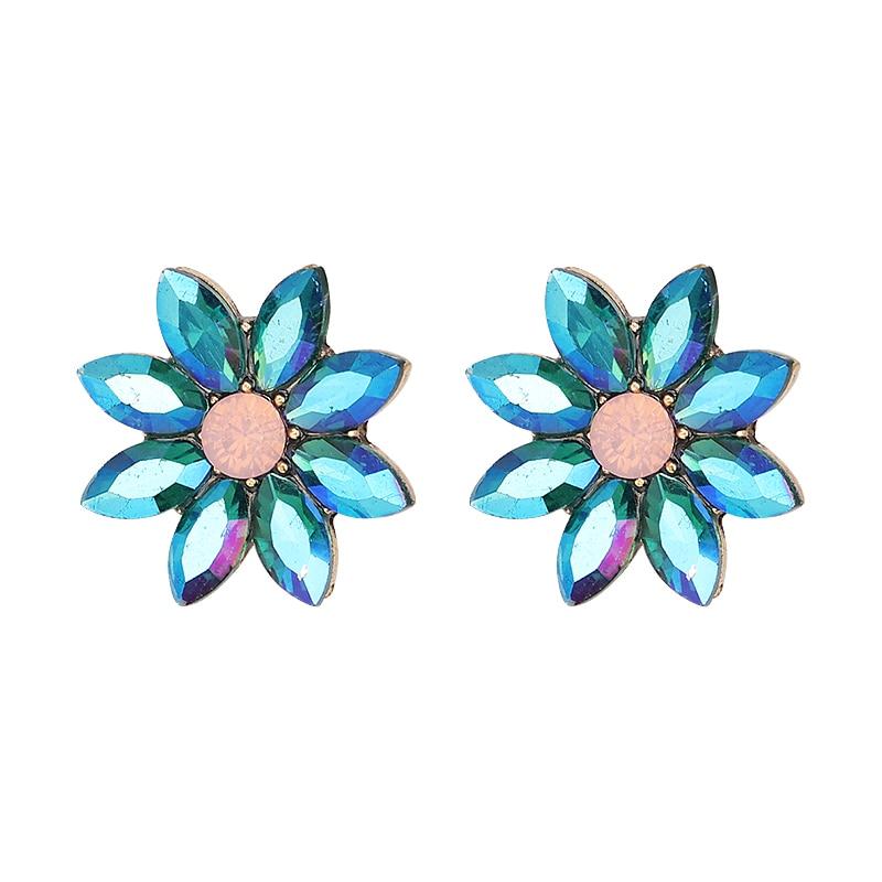 Нови блестящи цветни обеци от горни - Модни бижута - Снимка 3